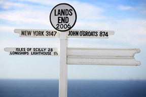 Lands End to John O'Groats sign